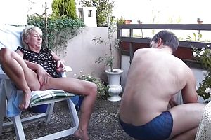 You stocking sex amateur outside simply does