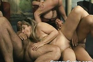 blonde,blowjob,brunette,granny,group Sex,handjob,hardcore