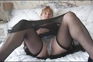 Granny,hairy,lingerie,mature,straight