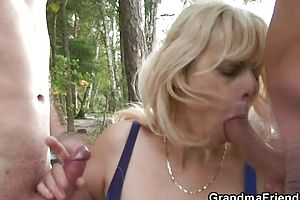 granny,mature,outdoor,reality,threesome