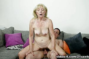 blonde,facial,granny,straight