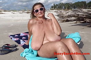 Beach,mature,milf,granny,hd Videos,big natural tits,saggy tits,big tits