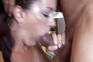 Blowjob,brunette,mature,facial,granny,cum in mouth,american,homemade