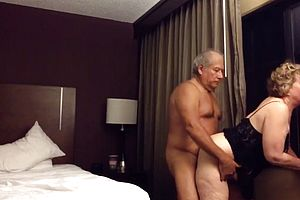 amateur,big butt,creampie,matures,granny,couple,doggy Style,wife,hotel